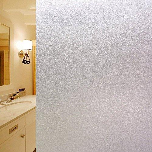 DUOFIRE Privatsphäre Fensterfolie Dekorfolie Sichtschutzfolie Ohne Kleber Selbstklebend Glas Fenster Aufkleber Anti-UV Folie (60cm X 200cm, DS001)