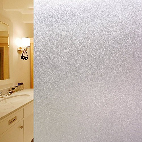 DUOFIRE Vinilo para Ventana de Privacidad Vinilo de Ventana Esmerilada Decorativa del Película de Ventana Autoadhesiva Sin Pegamento Película para Vidrio Anti-UV (60cm X 300cm, DS001)