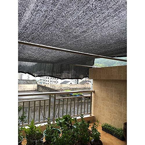 KOOEIN Red De Sombra Negra,Vela De Sombra,Tela De Sombra,Cortina De Sombra Antienvejecimiento,95% Anti-UV,Cerca del Parabrisas del Patio,jardín,Piscina,18 Pines,4x5m/13.1x16.4ft
