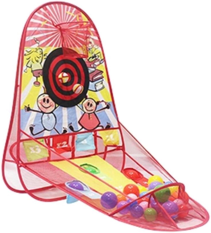 Cuzit Kids Basketball Hoop Indoor & Outdoor Popup Play Tent Practice Net Toy