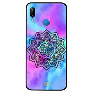 Huawei Nova 3i Case Cover Flower at Centre Blue Colors, Moreau Laurent Premium Phone Covers & Cases Design