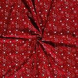 Stoff Meterware Baumwolle rot weiß Gold Weihnachtsstoff