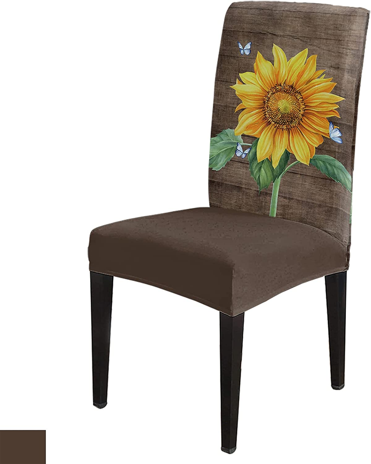 Sunflowers Chair New product! New type Slip Covers sold out Dining Stretchable Protector