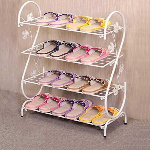 LJHA Chaussure Crémaillère Chaussure Simple Ménage Multi-couche Simple Moderne Économique Fer Forgé Dortoir Pantoufles Étagère de Stockage Petite Chaussure Rack Chaussure Armoire Meubles à chaussures