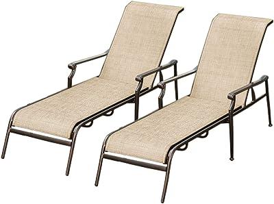 Amazon Com Mainstays Jefferson Wrought Iron Chaise Lounge