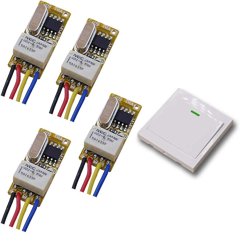 7fdfa49ccb34 DC 3.5v12v Micro Wireless Control Switch Remote Switch Radio ...