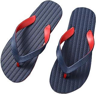 Men's Summer Flip Flops, Fashion Colorblock Design Massage Sandals Non-Slip Slippers Toe Post Thong Platform Wedge Beach Shoes,3,41