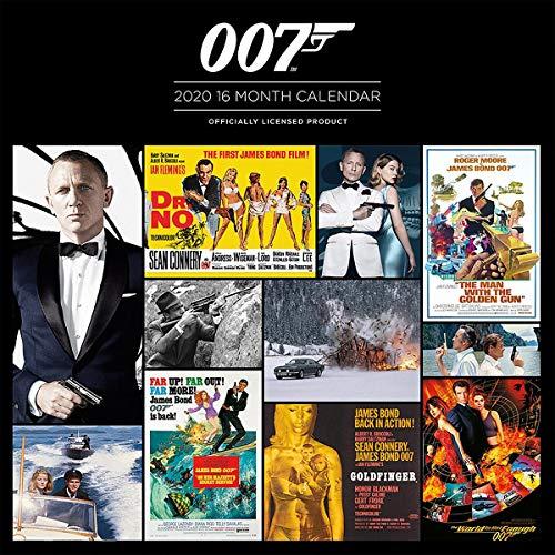 Close Up James Bond 2020, Calendario Ufficiale 2020, 12 Mesi, Versione Inglese Originale