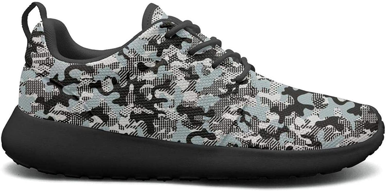 Wuixkas Camo Camouflage Womens Lightweight Mesh Sneakers Cool Tennis shoes