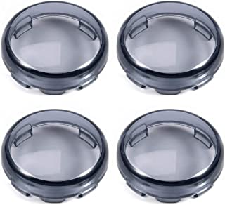 Amazicha 4 PCS Smoke Tint Bullet Turn Signal Lens Covers Compatible for Harley Davidson Sportster Softail Electra Glide St...