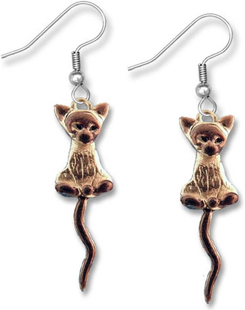 新色追加 Enamel Siamese Cat Earrings The Magic Zoo by (訳ありセール 格安)