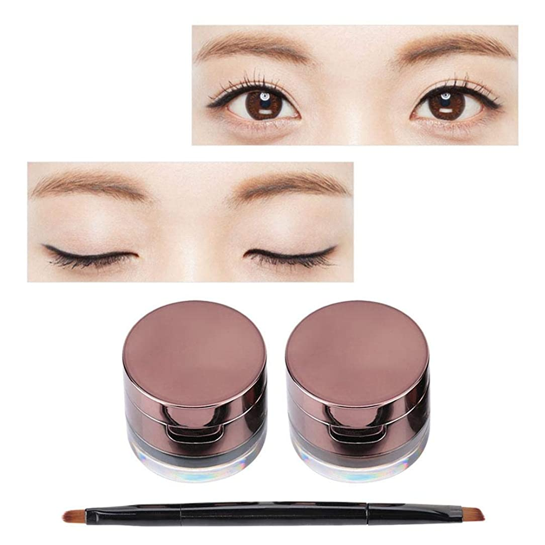 学校の先生拡散する名前を作る眉毛パウダーセット、ミスファイブメイクアップアイライナー眉毛パウダーセット防水化粧品ブラシキット