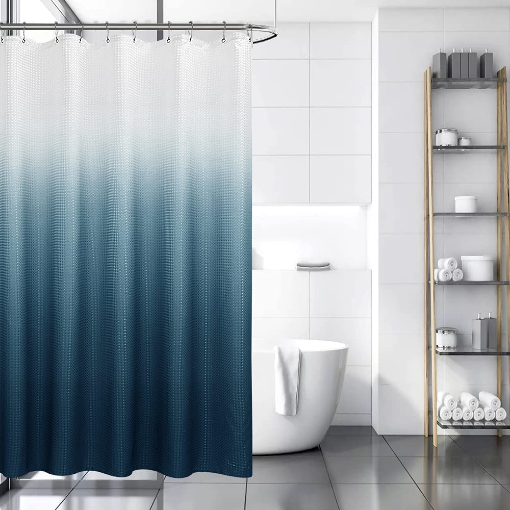 service Waffle Weave Shower Curtain for 5 ☆ popular Waterproof Bathroom Show Fabric