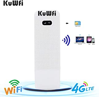 KuWFi Unlocked Pocket 4G LTE USB Modem Router Mobile WiFi Router Network Hotspot 3G 4G WiFi Modem Router with SIM Card Slo...