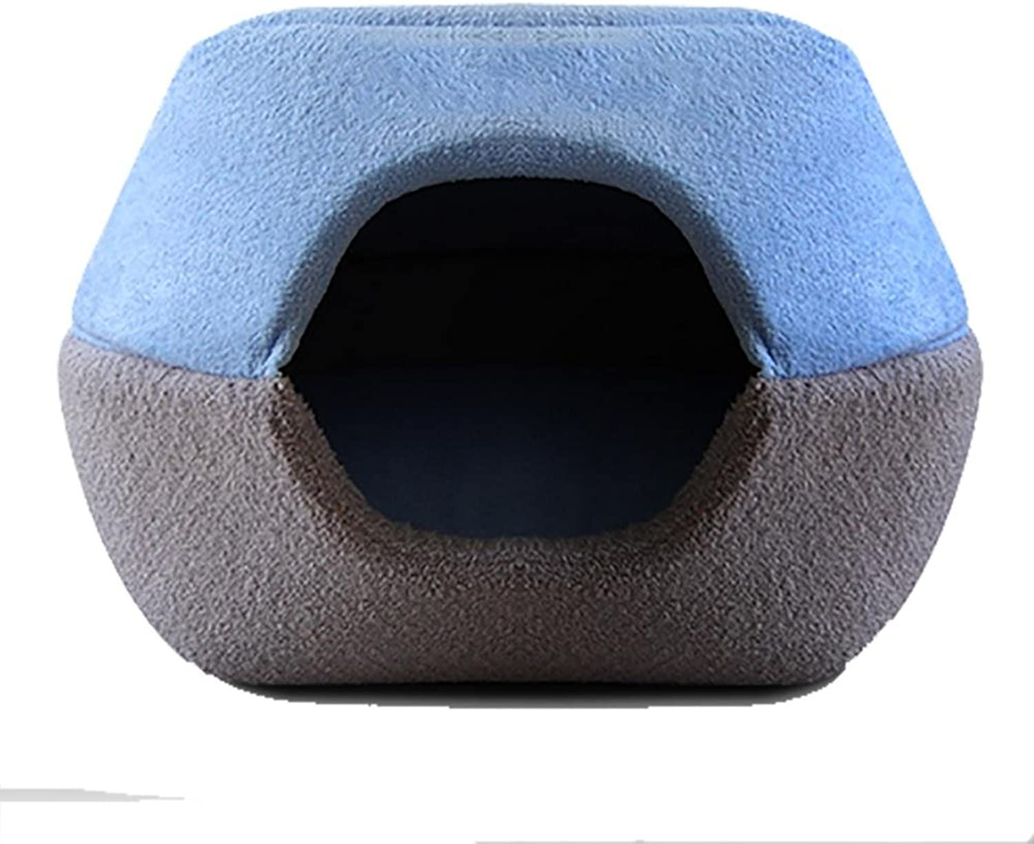 DIAMO Pet Bed Dog Cat Kitten Puppy Cave Kennel House with Mat Foldable