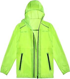 Sponsored Ad - Meahyn Unisex Lightweight Hooded Rain Jacket