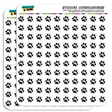 Paw Print Pet Dog Cat 1/2' (0.5') Planner Calendar Scrapbooking Crafting Stickers - Opaque