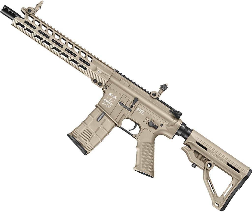 Fusil ICS CXP-Peleador C-Tan (6mm) | Arma Larga de Airsoft Tipo MTR1 con Sistema eléctrico (semiautomática)
