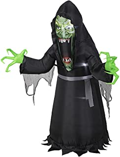 HALLOWEEN INFLATABLE PHOTOREAL 5' EVIL WITCH MONSTER BY GEMMY