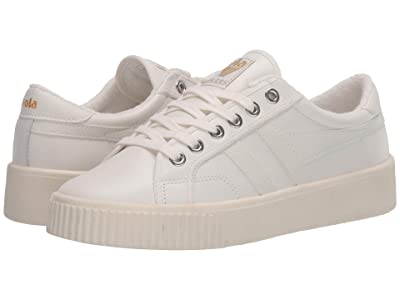 Gola Baseline Mark Cox Leather (Off-White/Off-White) Women
