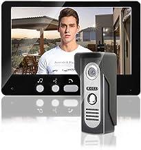 7 inch video-deurbel, draadloos intercomsysteem met TFT-cameramonitoren, video-deurbel-intercom-nachtzichtsysteem, deurtoe...