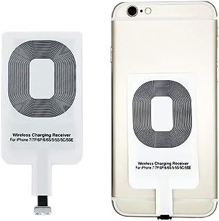 Qrity Qi Receptor de Carga inalámbrico, Ultra-Thin & Smart Microchip para Qi Wireless Charging Pads - para iPhone 7/7 Plu...