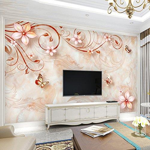 LZK 5D dreidimensionales Relief im europäischen Stil Wohnzimmer TV Hintergrund Wand Papier einfaches Schlafzimmer Nahtlose 3D Wallpaper Wand Wandverkleidung,Rosa,1