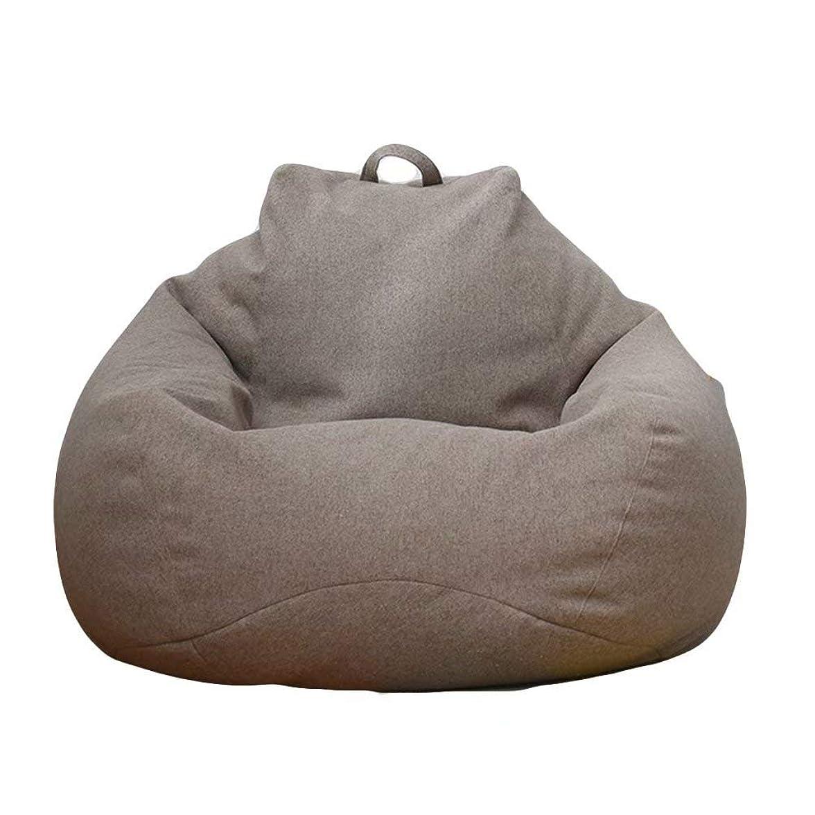 恥ずかしさ慣性縮れたビーズクッション 座布団 座椅子 座布団 腰痛 低反発 無地 取り外し可能 洗える 伸縮 軽量 90x110cm (ブラウン)