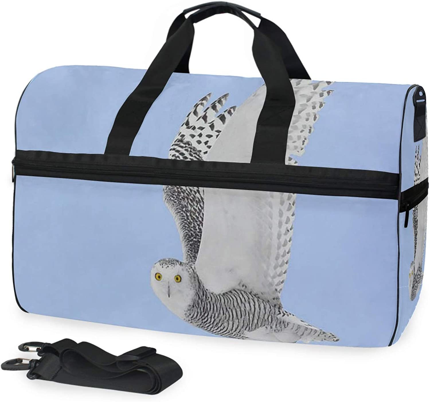 Gym Bag Owl Sport Travel Duffel Bag with Compartment Large