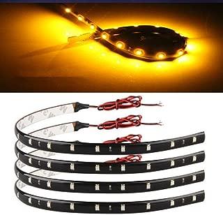 4 30cm 15 LED Flexible Car Auto Strip Neon Light Lamp Orange