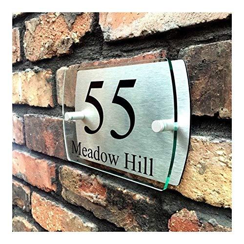 Preisvergleich Produktbild Victor Johnsond Hausnummern Türschilder Customized Transparent Acryl House Plaketten Sign Plates Haus Schilder mit Aluminium-Kunststoff-Verstärkungspla... 2137 (Color : 1)