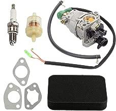 Mannial Carburetor Carb for Honda GX340 GX390 Engine Generac 55771 0055771 GP5000 GP5500 GP6500 GP6500E 5000 6000 6500 Watt 389cc Generator with Fuel Filter Air Filter Spark Plug