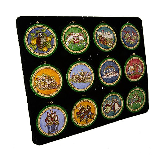 Kurt Adler 3-Inch Resin Twelve Disc Set of 12 12 Days of Christmas Ornament Set, Piece