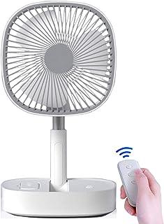 充電式 卓上扇風機 16000mAh 携帯扇風機 最大作動時間72h ポータブルファン リモコン付き 伸縮式折りたたみ式 高さ調整可能ファン、デスクトップファン、フロアファン、リモートタイマー機能付き、家庭、オフィス、お出かけ用(ホワイト+グレー)