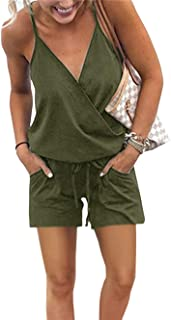 PRETTYGARDEN Women's Summer Casual V Neck Adjustable...
