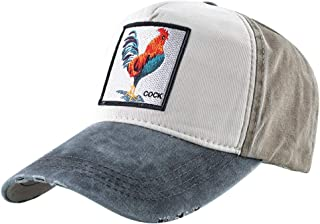 Unisex Animal Embroidered Baseball Caps Strapback Square Patch Dad Hat