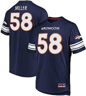 Majestic Von Miller Denver Broncos Navy Big & Tall Hashmark Jersey T-Shirt