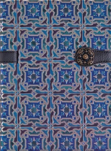 Boncahier 105012 Notizbuch 17.5 x 13 cm, 144 Seiten, liniert, Portugal Motiv, blau kariert