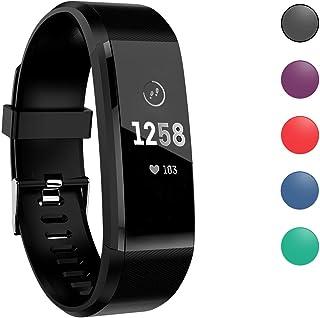 MASOMRUN Pulsera de Actividad Inteligente, Impermeable Reloj Inteligente con Pulsómetro Podómetro Calorias Monitor de Sueño, Pulsera Actividad Smartwatch para Hombre Mujer Niños