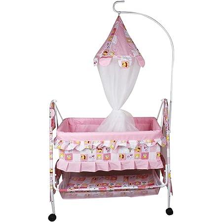 kayoksh Cradle for Kids or New Born Baby jhula Crib Cradle for Baby (Pink)…