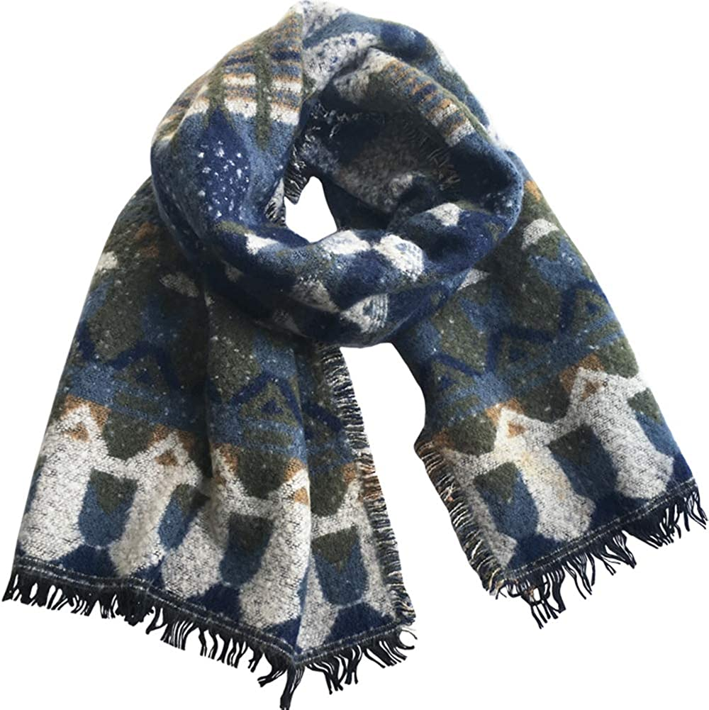 Women's Fashion Long Shawl Big Grid Winter Fall Warm vintage Lattice Oversized Blanket Scarf 79