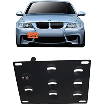 JGR Track Racing Style Tow Hook Towing Eye CNC Aluminum Screw On Front Rear Bumper for BMW 3 Series E36 E46 E90 E91 E92 E93 318 320 323 325 328 330 335 M3 1992 to 2012 Black