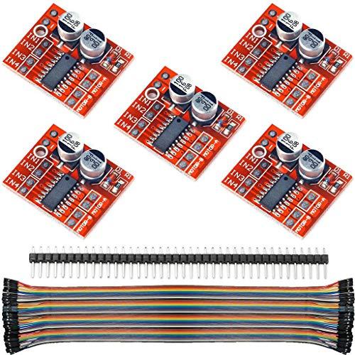 5Pcs L298N 1.5A 2Way MX1508 DC PWM Speed Dual H-Bridge Stepper Motor Module