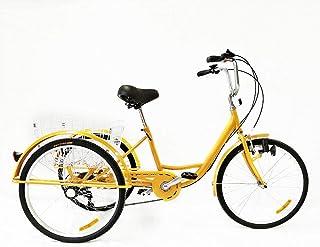 MOMOJA Triciclo Adulto 6 velocità 24 Pollici Bici a Tre Ruo