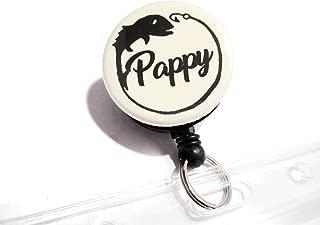 ATLanyards Pappy Fishing License Holder Waterproof, Pappy Fishing Gift, Pappy Badge Reel, Khaki 22