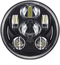 Sharplace 5.75  Faro Anteriore Proiettore 12V Luce 6 LED Stile Retr/ò Per Moto Cafe Racer