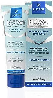 LUSTER PREMIUM WHITE 光沢プレミアムホワイト|光沢NOW!インスタント歯科ホワイトニング虫歯予防フッ化物の歯磨き粉、エナメル金庫は、目に見え1回のブラッシング、ミント後に歯を白く