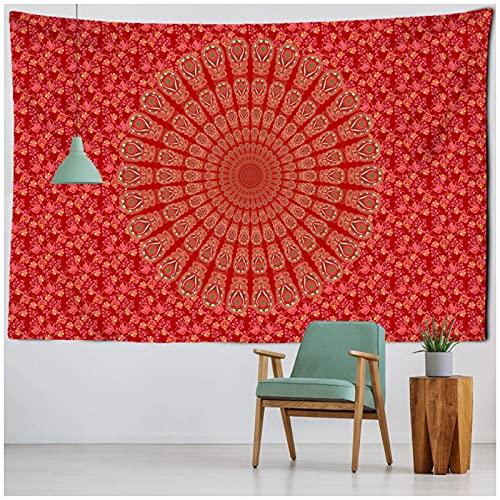 BD-Boombdl Tapiz de mandala Bohemia decoración para colgar en la pared Hippie Beach Mat Poliéster Manta fina Mantón Cojín Colchón 59.05'x78.74'Inch(150x200 Cm)