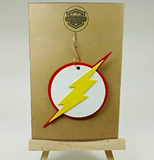 Flash Ornament | Justice League | DC Comics | Rear View Mirror | Lightning Bolt | Secret Santa | Gift Exchange