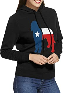 Texas Flag Lone Star Doodle Women's Hoodies Long Sleeve Pullover Sweatshirt Sweater Coat